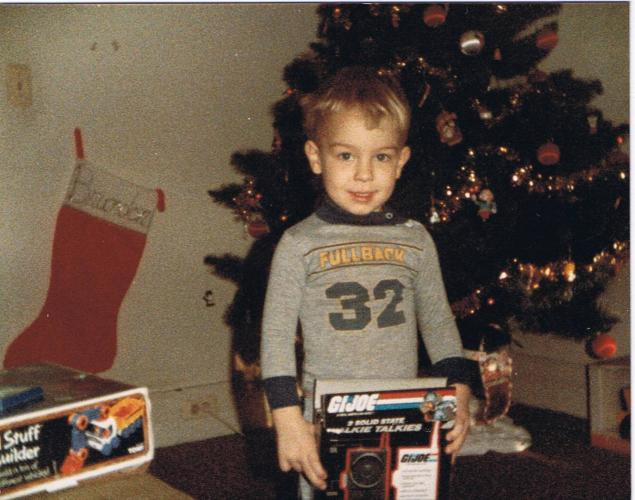 Brandon at Christmas - age 3