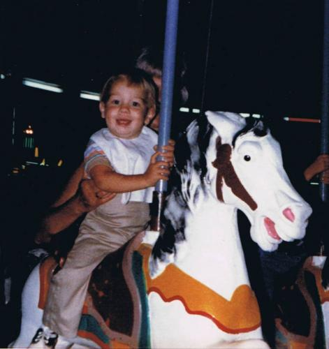 on the Merry go Round age 1
